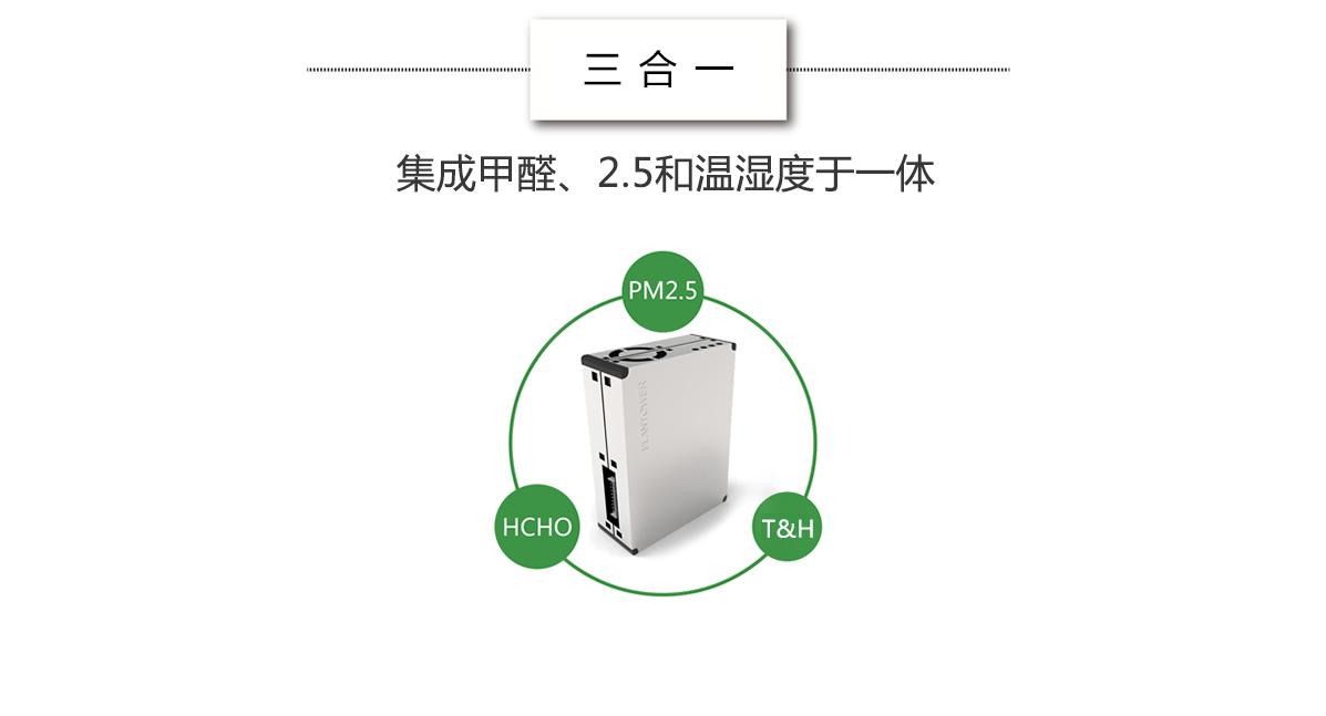 集成PM2.5传感器、甲醛传感器、温湿度为一体